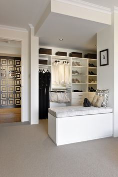 walk-in robe - 2 rods Shoe Room, Beautiful Closets, Walk In Robe, Wardrobe Storage, House Rooms, Home Bedroom, My Dream Home, Interior Inspiration, Ideal Home