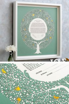 This Ketubah is a gorgeous composition, it is made of high quality paper and the result is a fine art piece. It is a Papercut Ketubah with a digital giclée print, having a modern design. This ketubah is unique and it will impress all the guests. ♥♥♥ DIMENSIONS: ★ 15 x 15 inches (38.1 x 38.1 cm) ★ 18 x 18 inches (45.7 x 45.7 cm) ★ 20 x 20 inches (50.8 x 50.8 cm) ★ 22 x 22 inches (55.8 x 55.8 cm) ★ 24 x 24 inches (60.9 x 60.9 cm) Wedding Vows, Wedding Gifts, Botanical Wedding Theme, Wedding Locations, Paper Cutting, Wedding Bouquets, Giclee Print, Modern Design, Composition