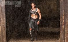"Kit Harington shows off his killer set of abs in a first look at Paul W.S. Anderson's new movie ""Pompeii."""