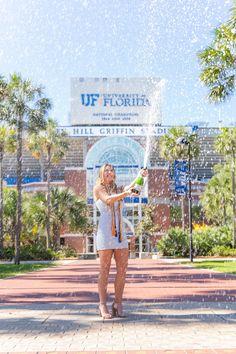 College Graduation Pictures, Grad Pics, Florida Gatora, Cap And Gown Pictures, Graduation Photography, Dream School, University Of Florida, Landscape Photography, Photoshoot