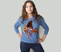 Lion Tiger Bear OH My! Pullover  Now that's funny!! -dlr