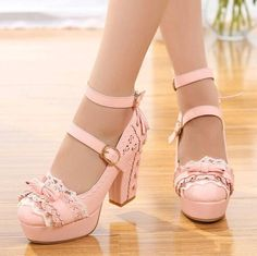 2ed33bb5d51 Women s Mary Janes Sweet Block Heel Lolita Ankle Strap Buckle Platform Shoes    Platform High