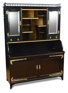 Collectors cabinet, probably Collinson & Lock c 1875.