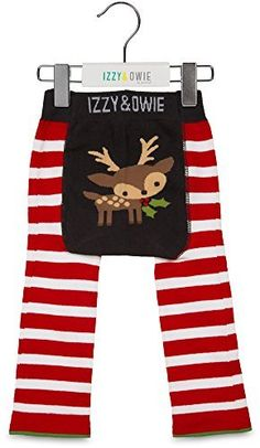 f6228e1f6 Red and White Reindeer 612 Month Baby Leggings ** Click on the image for  additional