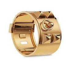 Hermès Gold Collier de Chien Bracelet