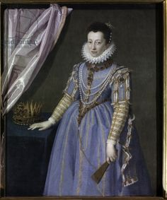 Portrait of Cristina di Lorena, Grand Duchess of Tuscany, 1590 (oil on canvas)