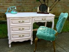 French provincial desk & chair