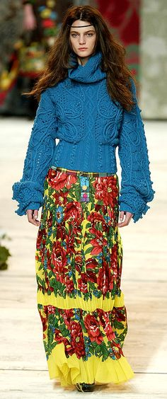 that sweater is ah-mazing. Kenzo  OMG!  Hey Shirley....knit this one :-)