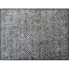 lainage chevrons noir et blanc