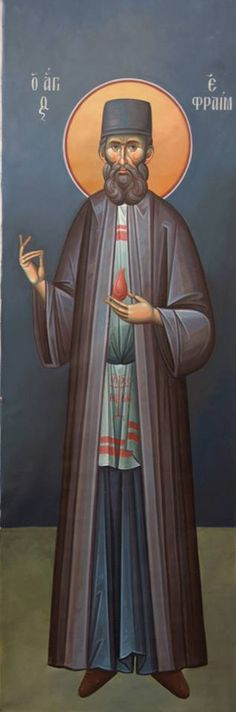 5 mai - Sf. Efrem cel Nou George Cimpoca Christian Art, Byzantine, Ikon, Mosaic, Saints, Darth Vader, Quotes, Fictional Characters, Quotations