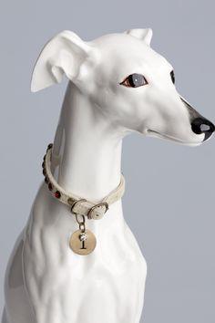 Dog Collars Chocolate Rhinestones on suede
