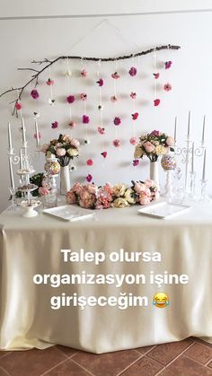 Nişan masası / Nişan Organizasyonu / Handmade / Engagement Events - the the Umeda Festa Party, Wedding Pinterest, Engagement Party Decorations, Deco Table, Decoration Table, Party Planning, Wedding Styles, Diy And Crafts, Bridal Shower