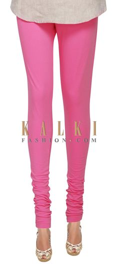 Buy Online from the link below. We ship worldwide (Free Shipping over US$100) Price- $9 Click Anywhere to Tag http://www.kalkifashion.com/pink-cotton-hosiery-legging-only-on-kalki-21428.html