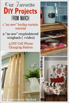 Best DIY projects + tutorials for the month of March @Four Generations One Roof