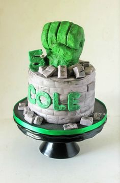 Hulk Fist Cake. Click over to Rose Bakes to get all the details about this super hero cake and see what else I was up to last weekend!