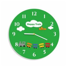 Detske nastenne hodiny s motivom vlacika Clock, Wall, Watch, Clocks, Walls