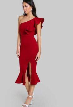 Women Sexy Party Chic Darla Red Open Back Bandage Midi Dress Dior Bella  Ready for a c006661ad