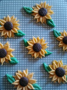 Sunflower Cupcake Toppers