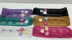 Flower Stretch Knitted Design Headband Variety of Colors | eBay