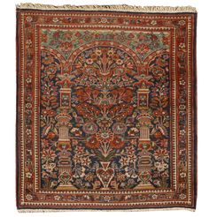 Antique Kashan Rug (Kashan (Persian: کاشان, also Romanized as Kashan; also known as Kachan)[1] is a city in and the capital of Kashan County, in the province of Isfahan, Iran. At the 2006 census, its population was 248,789, in 67,464 families.[2])