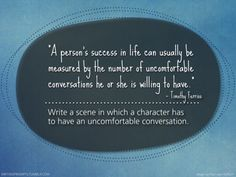 Writing prompts #753 uncomfortable conversations