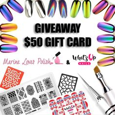 Marine Loves Polish: Giveaway #1 What's Up Nails - $50 gift card!