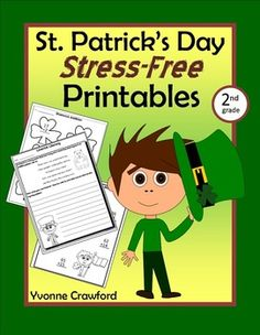 St. Patrick's Day Stress-Free Printables - Second Grade Common Core $