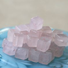 6mm Cube Beads  Jewelry Supply  Rose Quartz by funkyprettybeads