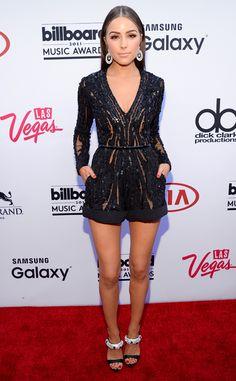Olivia Culpo, Elie Saab jumper, 2015 Billboard Music Awards