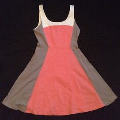 A pink and beige Express summer dress! This is a pink/peach and beige summer dress from Express in a size small. This was only worn once for a baby shower and is in great condition! Express Dresses