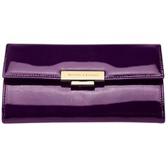 Aspinal of London Barbarella Patent Leather Purse Wallet, Purple ❤ liked on Polyvore