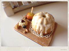 Glazed Bundt Cake Dollhouse Miniature Food by 2smartminiatures, €17.50