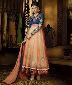 Get Stunning look at any #party with these #PartyWear #AnarkaliSuits. Shop Online: - http://www.shoppers99.com/anarkali_suits/party_wear_anarkali_suits