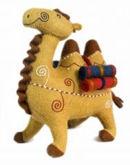 Our adorable 100% wool felted camel #toy makes an ideal child's gift. Hand made by a woman's cooperative for us in Kyrzykstan, it comes from the imagination of the women who created them and will entice the children in your life for hours!