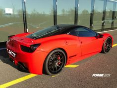 Our friends in Switzerland at Zumac AG just fit their own Ferrari F458 with 21-inch Forgeline VX3C-SL concave stepped lip wheels finished with Matte Black centers and Gloss Black outers. See more at: http://www.forgeline.com/customer_gallery_view.php?cvk=1028  #Forgeline #VX3C #notjustanotherprettywheel #madeinUSA #Ferrari #F458
