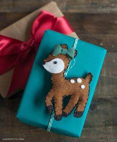 Felt Deer Gift Topper or Ornament Tutorial