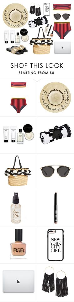 """""""Work @ the Beach"""" by ballereyna ❤ liked on Polyvore featuring STELLA McCARTNEY, Betsey Johnson, Bobbi Brown Cosmetics, Alice + Olivia, Christian Dior, Olivine, RGB Cosmetics and Casetify"""