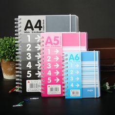 Encontrar Más Libretas Información acerca de Corea lindo doble bobina cuaderno creativo diario de papel A4 A5 A6 escuela cuaderno espiral libreta oficina útiles escolares cuadernos, alta calidad Libretas de Balabala Discount  en Aliexpress.com