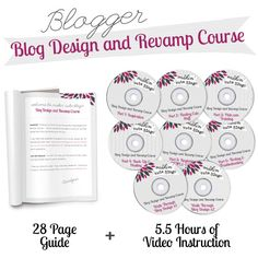 This course will walk you through the entire process of designing your own Blogger Blog, from coming up with ideas, to designing your elements (using a free online program), to installing your design on you blog.  Use Promo Code: PINTEREST to get 25% off!!!!