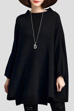 LUSHIJIAO Oversized Batwing Sweater