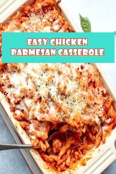 EASY CHICKEN PARMESAN CASSEROLE  Chicken parmesan casserole takes all the flavors we like in our favorite fowl parmesan recipe and turns them right into a stomach warming casserole! If you don't have leftovers, you may also use rotisserie chicken or make a wonderful brief poached fowl.  #easycrockpotmeals #crockpotchicken #crockpotchickenrecipes #BestFood Recipe Using Leftover Chicken, Recipes Using Rotisserie Chicken, Chicken Parmesan Recipes, Chicken Salad Recipes, Chicken Meals, Cheap Casserole Recipes, Casserole Dishes, Chicken Casserole, Easy Meals