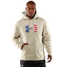 Under Armour Men's Big Flag Logo Tackle Twill Fleece Hoody