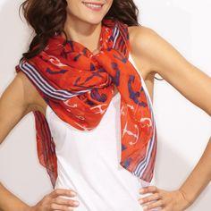 Metallic Foil Anchor Scarfs Women  Ladies Wrap glitter 2 colors Gift For Friend