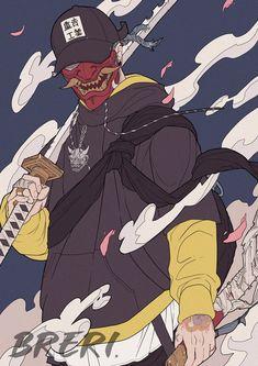 Samurai Drawing, Samurai Anime, Samurai Artwork, Fantasy Character Design, Character Design Inspiration, Character Art, Arte Ninja, Ninja Art, Urban Samurai