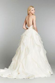 low back wedding dresses