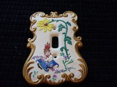 Vintage Holland Mold Hand Painted Light by GalasVintageVibes