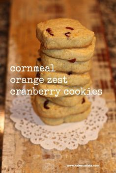 This recipe is inspired by a Martha Stewart recipe titled cornmeal-cherry cookies and my favorite Dancing Deer Cornmeal biscotti.  I love anything made with cornmeal.  Sooooo.....good! I morphed th...
