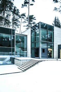 great use of glass and steel