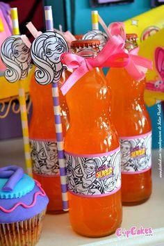 Drinks from a Superhero Barbie Birthday Party via Kara's Party Ideas | KarasPartyIdeas.com (22)
