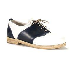 Swedish Hasbeens: Saddle Shoe Dark Blue And White